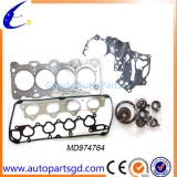 high quality low price engine gasket set for Mitsubishi OEM MD974764